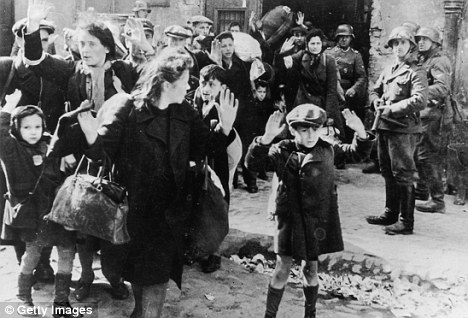Polish Jews surrender after the Warsaw uprising